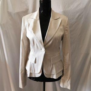 Suzy Sheer Light Beige Blazer Size 7/8